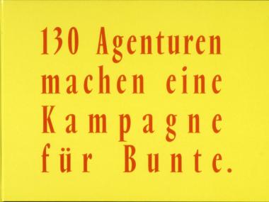 Großflächenplakat für die BUNTE-Aktion zur Wahl, 1980