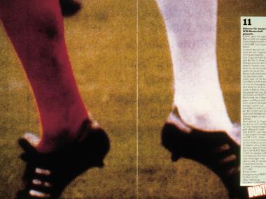 """Anzeige für die BUNTE-Aktion """"WM-Mannschaft gesucht"""", 1981"""