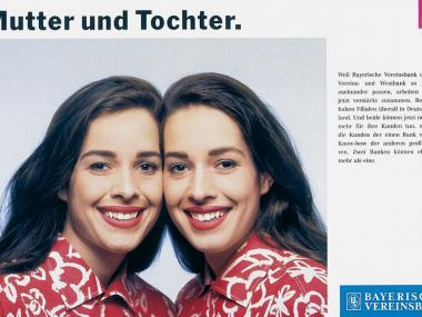 Anzeige für die Vereinsbank-Gruppe,1990