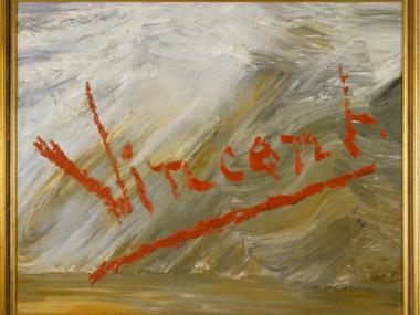 Michael Schirner, Kisuaheli neumix, ohne Titel (Vincent), Öl auf Leinwand, 1987