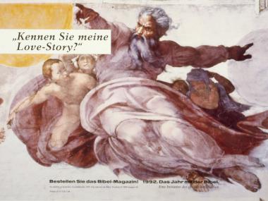 """Großflächenplakat für """"Das Jahr mit der Bibel"""", 2003"""