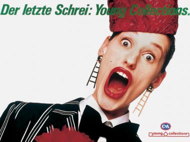 Großflächenplakat für Young Collections von C&A, 1990