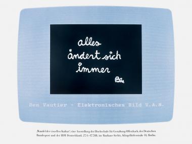 """Plakat für die IBM-Ausstellung """"Wandel der visuellen Kultur"""", 1988"""