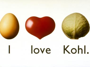 Logo der Kampagne für Helmut Kohl zur Wahl, 1990