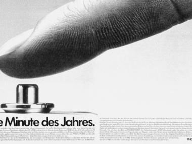 """Anzeige für die Fotoaktion """"Die Minute des Jahres"""", 1980"""