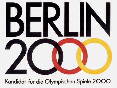 Plakat für Olympia 2000 in Berlin, 1991