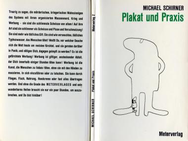 Michael Schirner, Plakat und Praxis, Text auf dem Rücktitel: Werner Büttner
