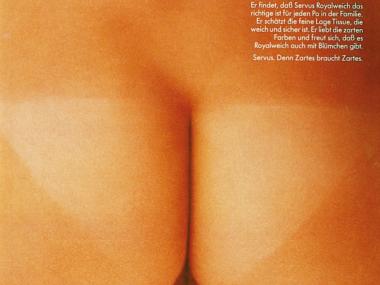 Zeitschriftenanzeige für Servus Toilettenpapier, 1978
