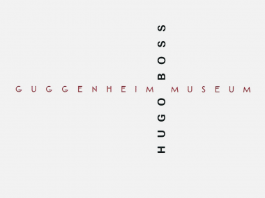 3seitige Anzeige für die Partnerschaft von Hugo Boss mit dem Guggenheim Museum, 1996