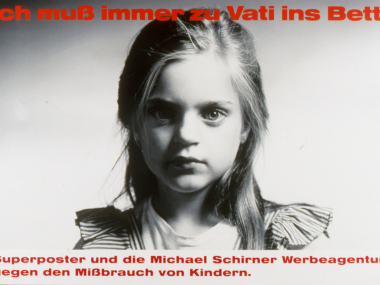 Superposter gegen Missbrauch von Kindern, 1988