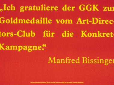 Anzeige der Inserentenkampagne für die Zeitschrift Konkret, 1981