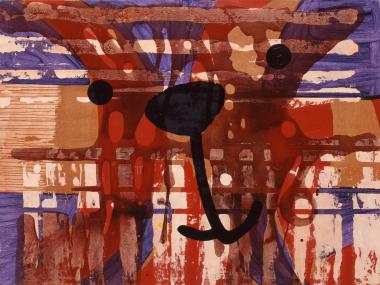 Michael Schirner, Lorem ipsum, ohne Titel (Leonardo da Vinci), 1993, Öl auf Leinwand