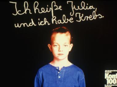 Plakat zur Spendenkampagne für die Kinderkrebshilfe des STERN, 1986