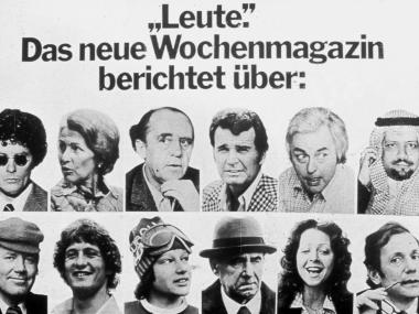 """Plakat für die Zeitschrift """"Leute"""", 1976"""