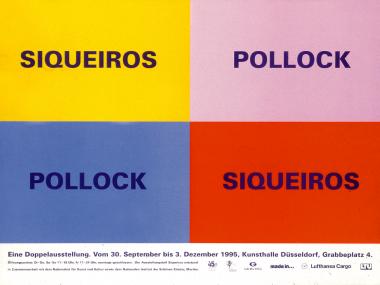 """Werbung für die Doppelausstellung """"Siqueiros / Pollock"""" in der Kunsthalle Düsseldorf 1985"""
