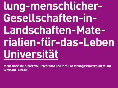 Plakat für die Uni Kiel, 2012