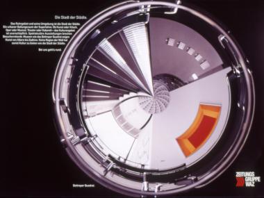 Zeitschriftenanzeige für die WAZ-Mediengruppe, 1996