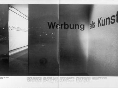 """Ausstellung """"Werbung als Kunst"""", Düsseldorf 1981"""