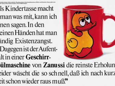 Anzeige für Haushaltsgeräte von Zanussi,1978