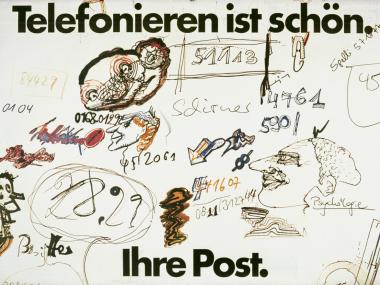 Plakat für die Post, 1977