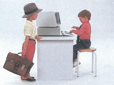 TV-Spot für die kleinen Computer von IBM, 1982, Screenshot