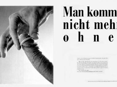 Anzeige zur AIDS-Prävention, 1986
